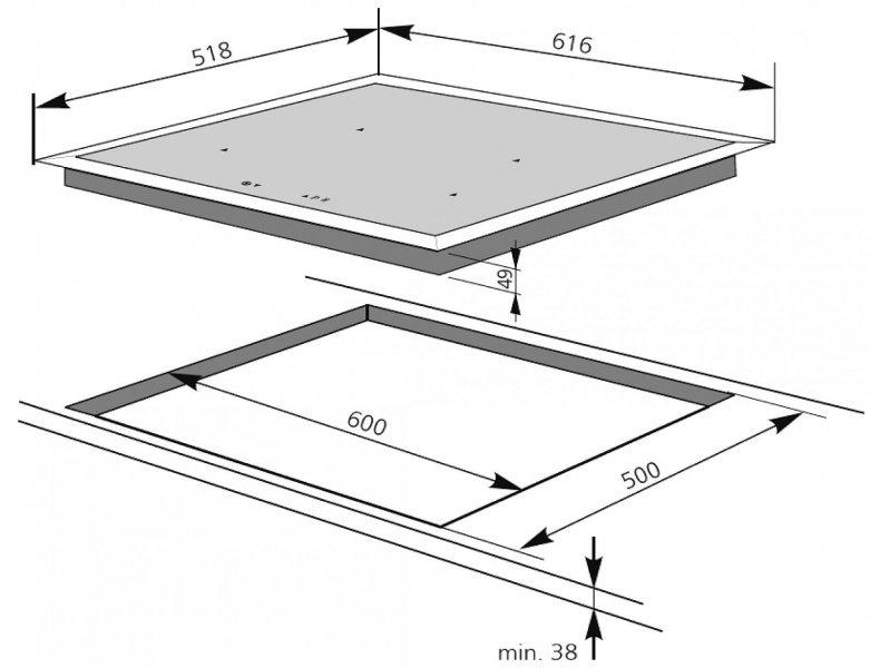 amica kmi 13291 f spo. Black Bedroom Furniture Sets. Home Design Ideas