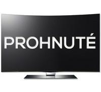 prohnuté televize