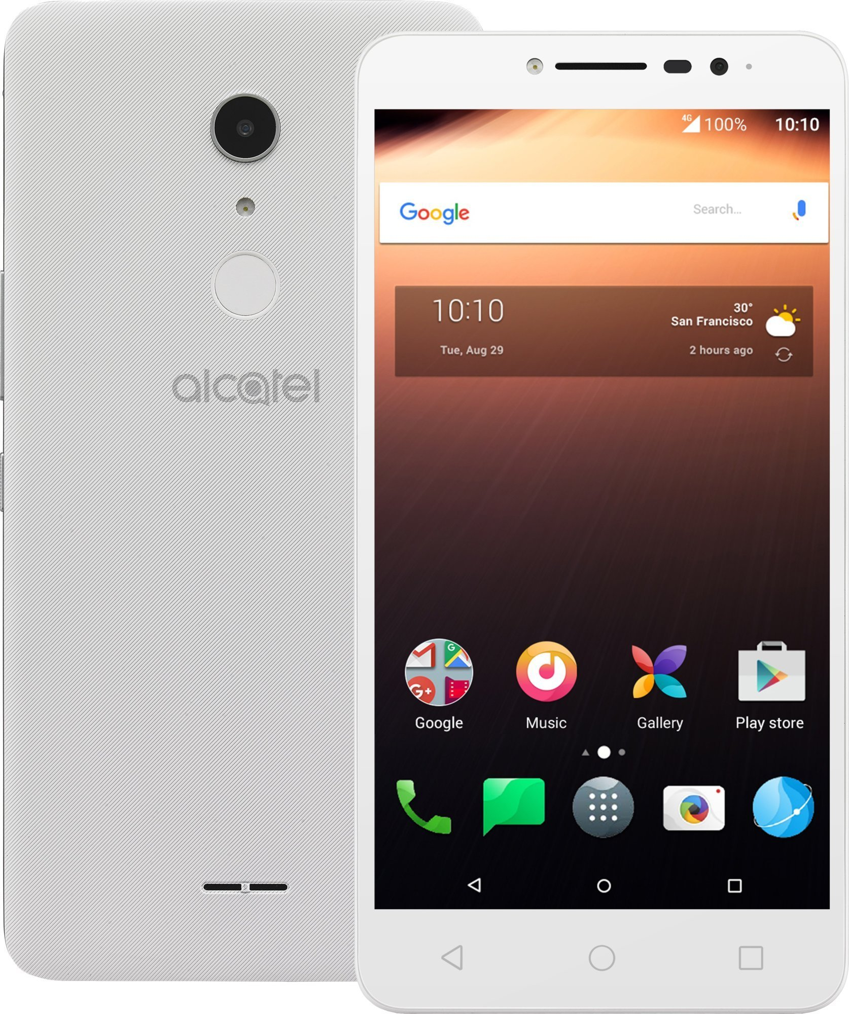 ALCATEL A3 XL 9008D White Silver
