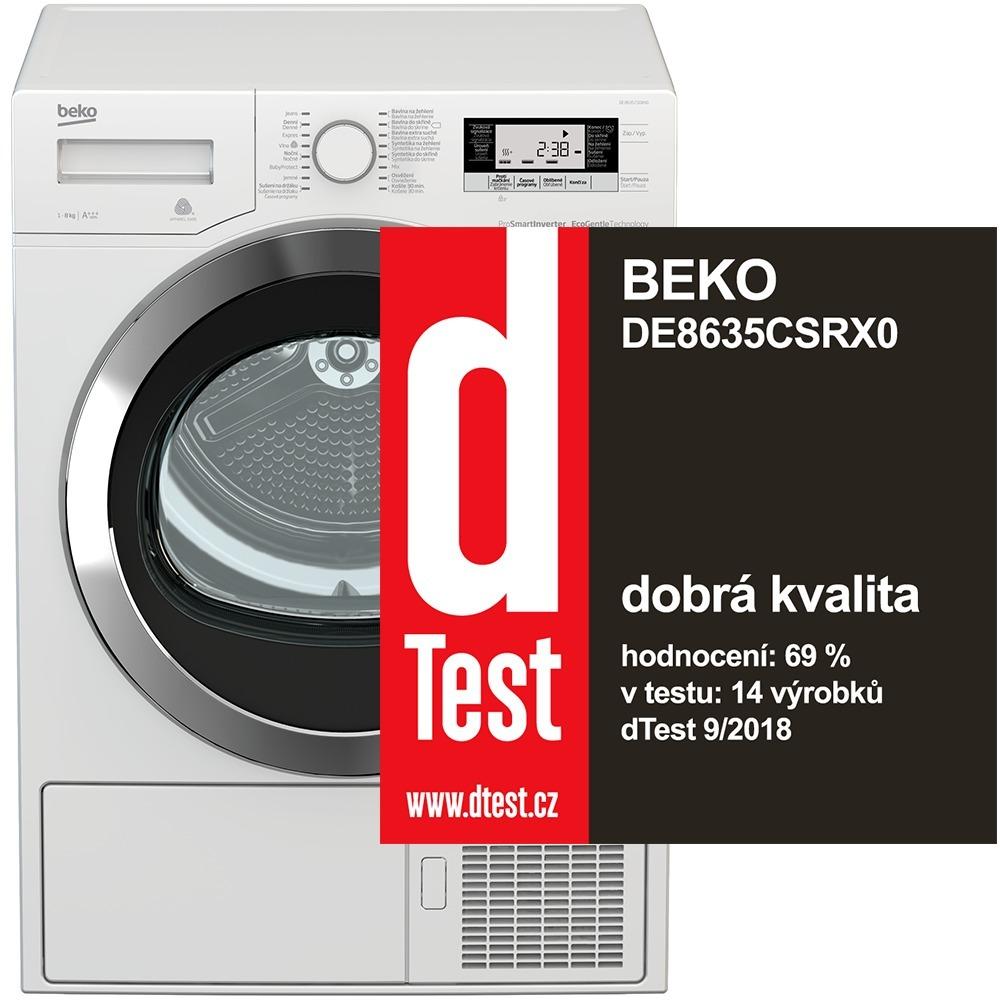 Beko DE 8635CSRX0 + 10 let záruka na motor