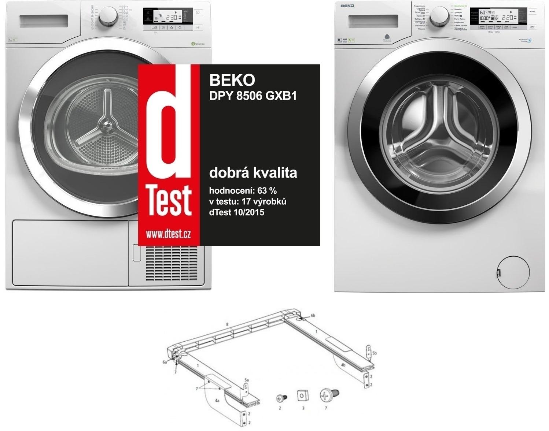Set Beko DPY 8506 GXB1 + Beko WMY 81243 CS PTLMB1 + mezikus 2985400200
