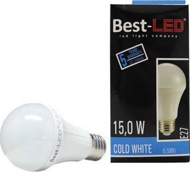 Best-LED E27 15W studená bílá BA60-15-C
