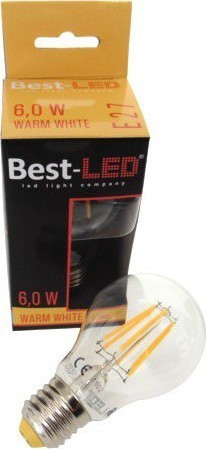 Best-LED E27 6W teplá bílá BL-A19-6W