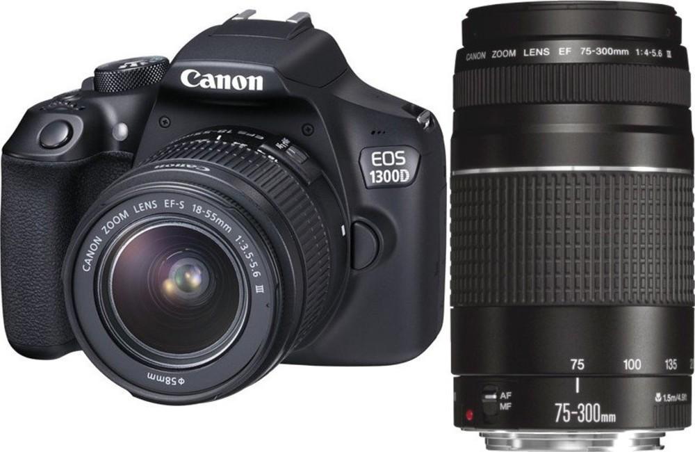 Canon EOS 1300D+18-55DC+75-300DC