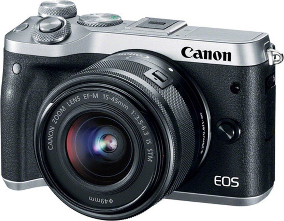 Canon EOS M6 Silver+EF-M 15-45+EFM55-200