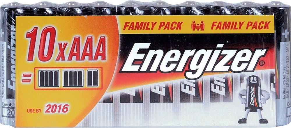 Energizer BAT FP ALK LR03/10 10xAAA