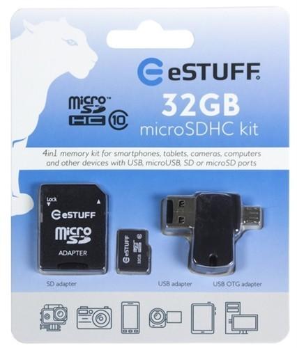 eSTUFF 4in1 Micro SD 32GB,class 10