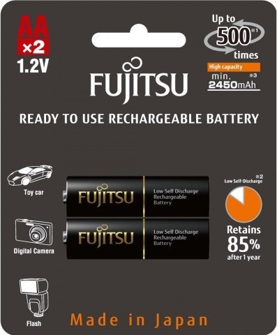 Fujitsu HR6 2BP AA Black NiMH 2450mAh