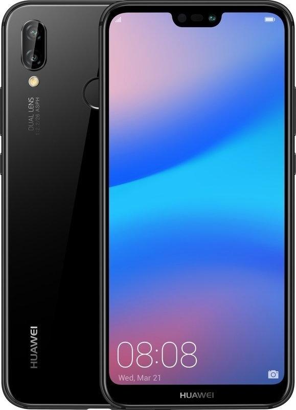 Huawei P20 Lite Black + pouzdro flip