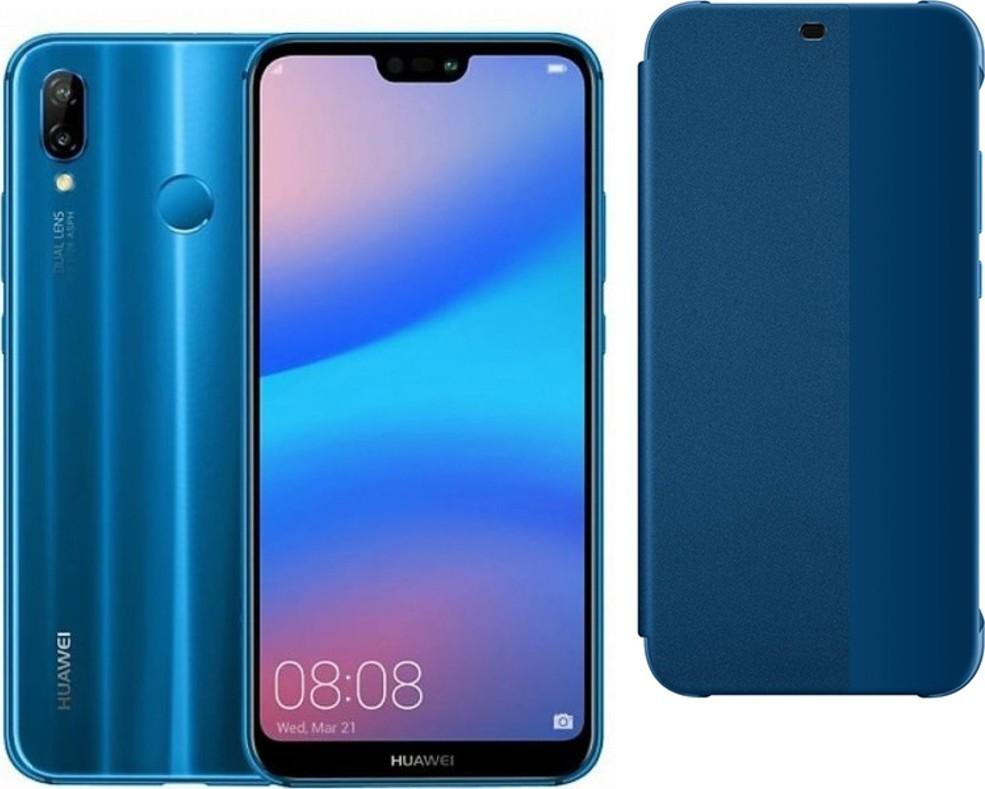 Huawei P20 Lite Blue + pouzdro flip