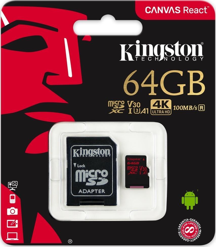 Kingston MicroSDXC 64GB UHS-I V3 80MB/s