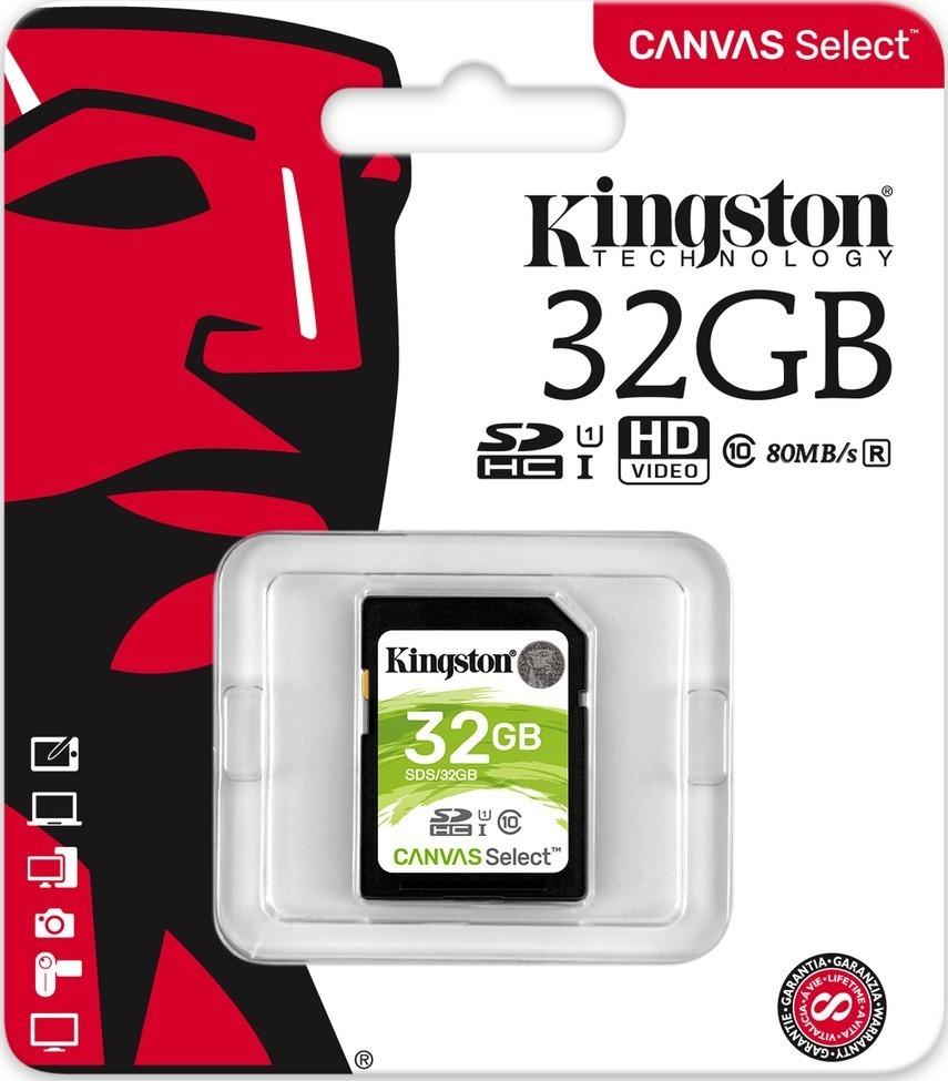 Kingston SDHC 32GB CL10 UHS-I SDS