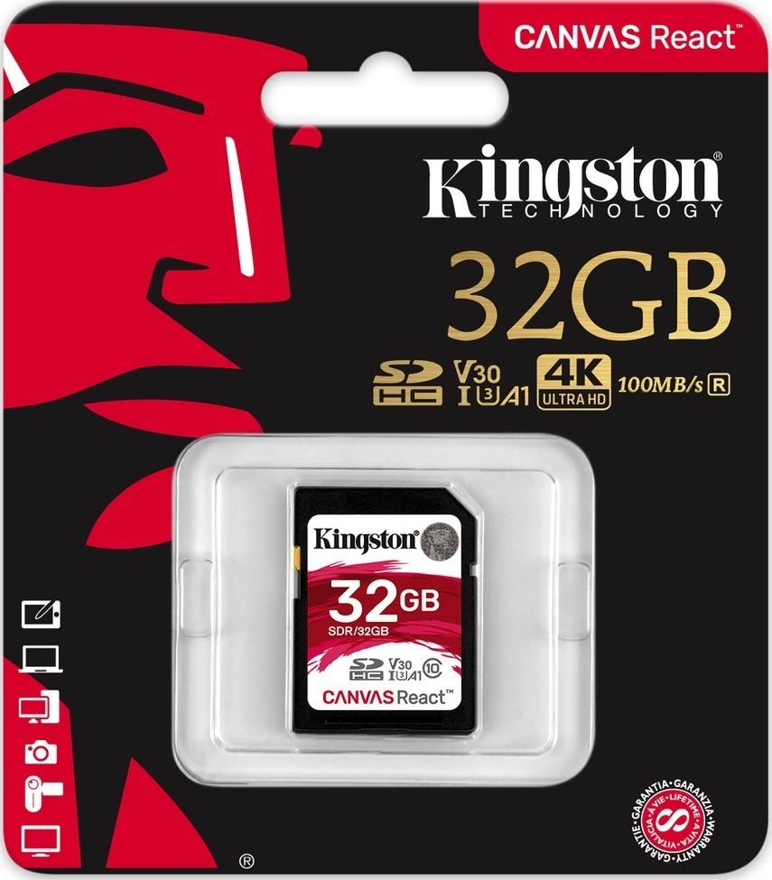 Kingston SDHC 32GB UHS-I U3 V30 100R/70W