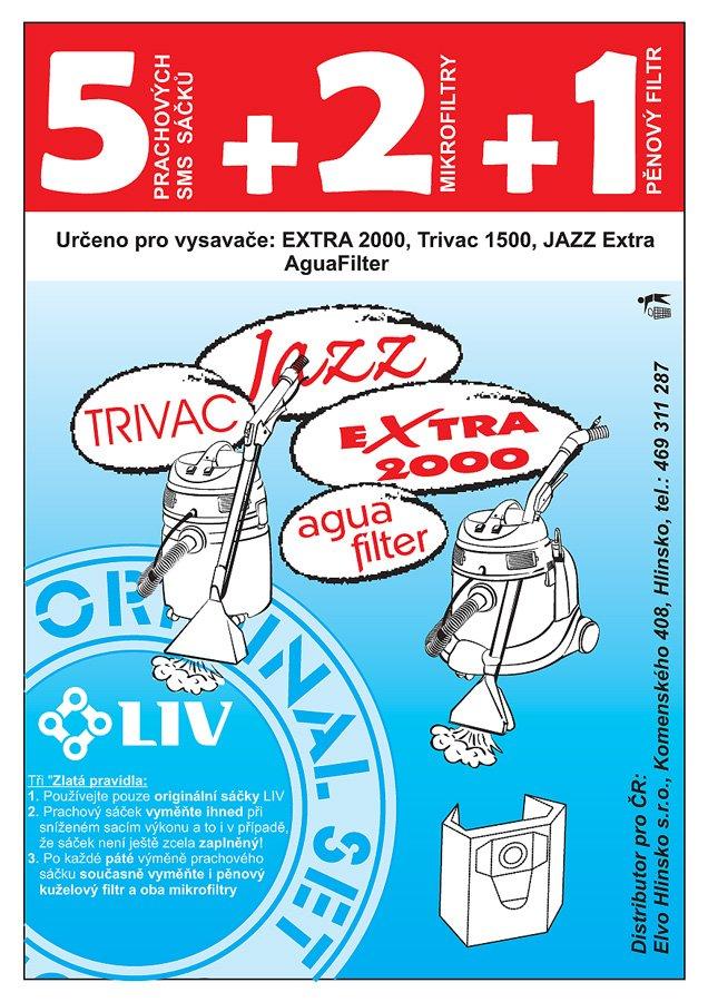 LIV SMS filtrační sáčky Aquafilter/Extra/Trivac/Jazz 5+2+1