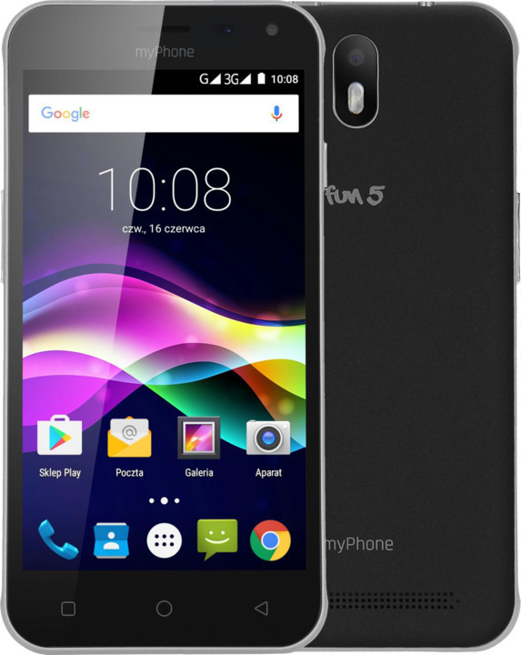 myPhone FUN 5 DUAL SIM černý