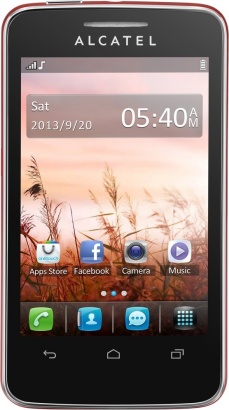 Alcatel One Touch 3040D TRIBE Cherry Red