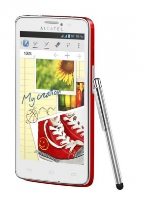 Alcatel One Touch 8000D SCRIBE EASY Red
