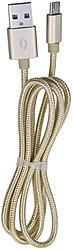 Aligator datový kabel microUSB zlatý DAKT009