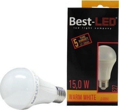 Best-LED E27 15W teplá bílá BA60-15-W