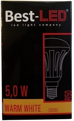 Best-LED E14 5W tep.bílá BL-R50-5-WW