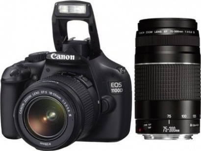 Canon EOS 1100D + EF 18-55 DC + EF 75-300
