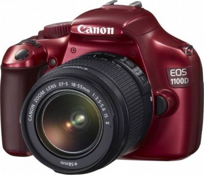Canon EOS 1100D + EF 18-55mm IS II Red