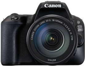 Canon EOS 200D Black+EF-S 18-135mm ISSTM