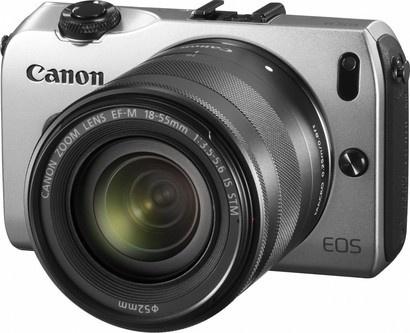 Canon EOS M SILVER + EF-M 18 - 55