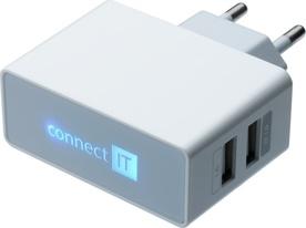 Connect IT CI-151W nabíječka 2xUSB 3.1A