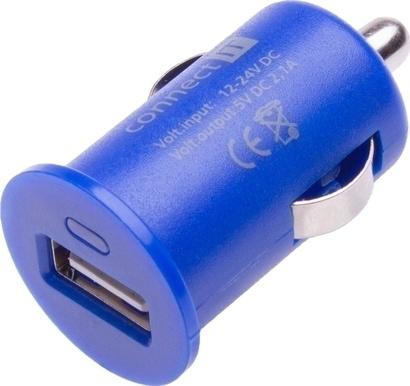Connect IT CI-589 CAR adaptér USB 2,1A modrý