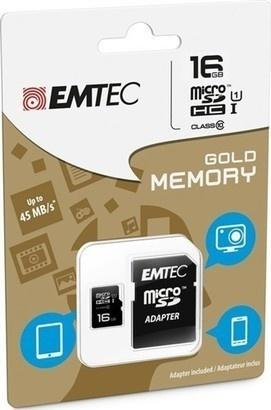 Emtec micro SDHC 32G Gold+Class10+adaptér