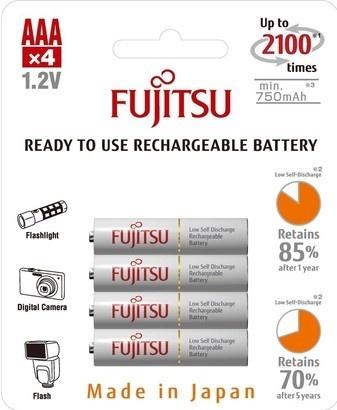 Fujitsu HR-4UTCEX-4B White AAA 4x