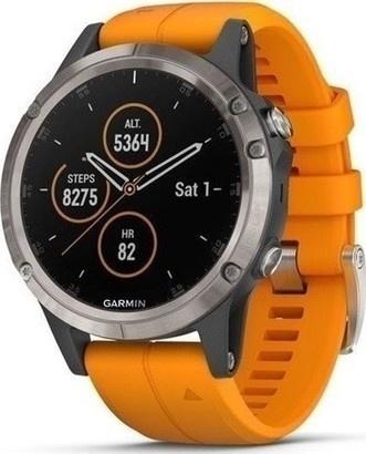 Garmin fenix5 Plus Sapphire Titan Orange