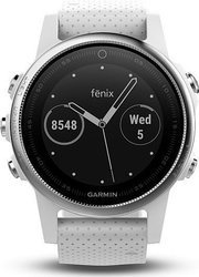 Garmin fenix5S Silver Optic White band