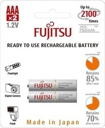 Fujitsu HR03 2BP AAA White NiMH 750mAh