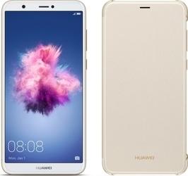 Huawei P Smart + Flip pouzdro Gold