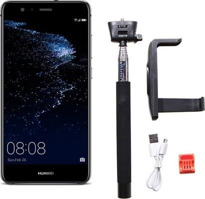 Huawei P10 Lite Black + selfie tyč