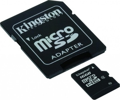 Kingston MicroSDHC 16GB CL4 + adaptér