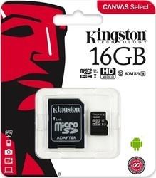 Kingston MicroSDHC 16GB UHS-I SDCS/16GB