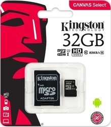 Kingston MicroSDHC 32GB UHS-I SDCS/32GB