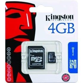 Kingston MicroSDHC 4GB CL4 + adaptér SDC4
