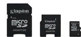 Kingston MicroSDHC 4GB CL4 + čt + adaptér