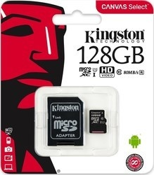 Kingston microSDXC 128GB CL10 UHS-I 80R