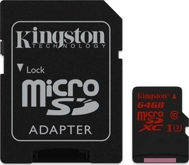 Kingston MicroSDXC 64GB UHS-1 U3 + adap