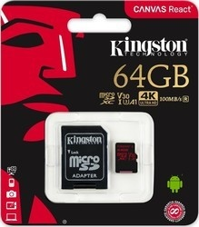 Kingston MicroSDXC 64GB UHS-I V3 80MB/s
