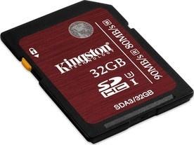 Kingston SDHC 32GB UHS-I Class 3