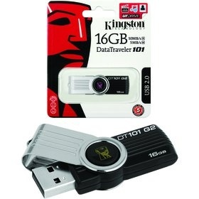 Kingston USB FD 16GB DT 101G2 BK