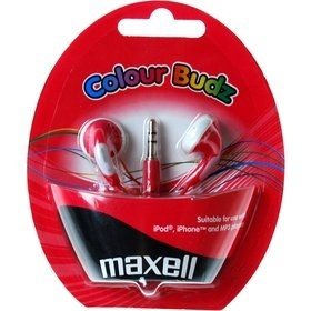 Maxell 303365 COLOUR BUDZ RED