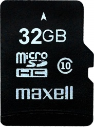Maxell MicroSDHC 32GB CL10 + adaptér