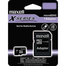Maxell MicroSDHC 8GB CL4 + adaptér